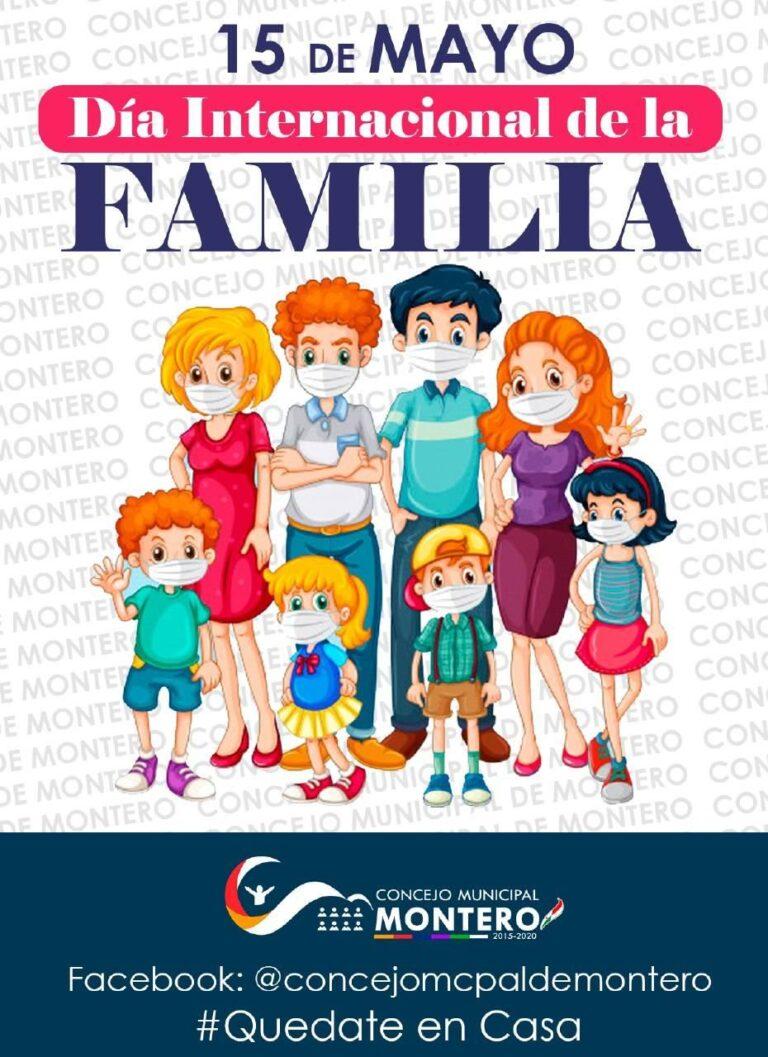 Cada 15 de mayo se recuerda el Día internacional de la Familia hacemos llegar nuestra felicitaciones a todas las familias montereñas